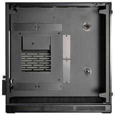 PC-Q37WX Mini-ITX Gehäuse, Tempered Glas - schwarz