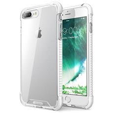 Custodia Iphone 7 Plus, Cover Antiurto [ shock Absorbing] Angoli Rinforzati - Pannello Posteriore Trasparente - Bumper (bianco)