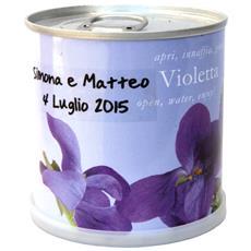 Bomboniere Naturali Personalizzabili Viola Fiori In Lattina Macflowers Cm 7,5x8 H