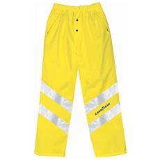 Pantaloni Ad Alta Visibilità In Poliestere Oxford Traspirante Colore Giallo Taglia 3xl