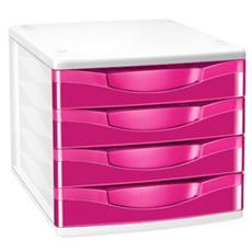 cassettiera a 4 cassetti rosa pepsi cepboxgloss 894 g