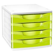 cassettiera a 4 cassetti verde anice cepboxgloss 894 g