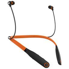 Auricolari Stereo con Bluetooth Colore Nero Arancione