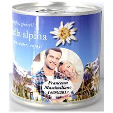 Bomboniere Matrimonio Naturali Personalizzate Stella Alpina Fiori In Lattina Macflowers
