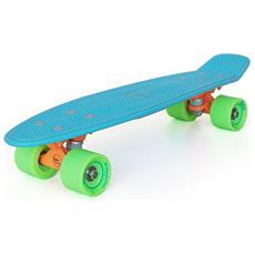 Tropical Blue S01bm0021 Skateboard Di Plastica Completo - Componenti Di Alta Qualità