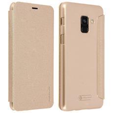 Custodia Galaxy A8 Sportellino Protezione Totale Nillkin - Oro