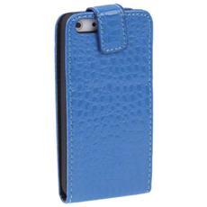 Cover per iPhone 5 / 5S - Croco Blue