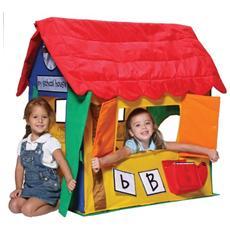 Tenda casetta learning cottage interno giocattolo gioco bimbi plastica
