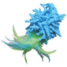 Per gatti modello Moppy with Feather con suono sfrusciante e piume colorate