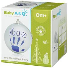 Baby Art Pallina Di Natale In Plastica, Set Per Disegnare Impronta Bambino