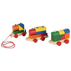 3 Vagoni Vani Vagone Trenino Treno Mattoncini Mattoni Blocks Blocchi Bambini