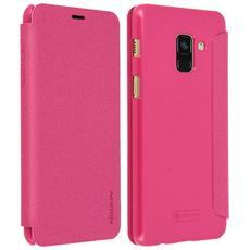 Custodia Galaxy A8 Sportellino Protezione Totale Nillkin - Rosa