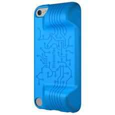 Mac TuffWrap Play Custodia in gomma blu con impugnature per iPod Touch 5