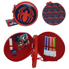 Spider Man astuccio tondo 2 zip completo