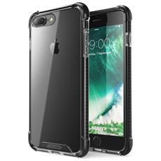 Custodia Iphone 7 Plus, Cover Antiurto [ shock Absorbing] Angoli Rinforzati - Pannello Posteriore Trasparente - Bumper (nero)