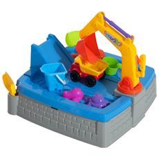 Set Giochi Da Spiaggia 11 Pezzi Con Escavatore, Multicolore,