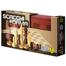 SPM6036101 Dama & Scacchi in Legno Deluxe