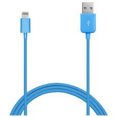 Cavo 1mt Apple Lightning Mfi Made For Iphone Ipod Ipad 2.4A Blu