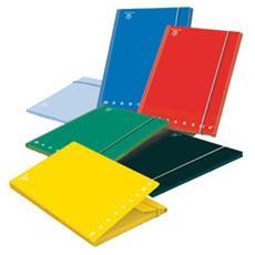 confezione da 6 pezzi - cartella 3 lembi c / elastico a4 - d 1.2 monocromo colori assortiti
