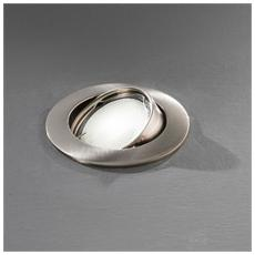 Faretto da Incasso Orientabile in Alluminio Cromo Spazzolato