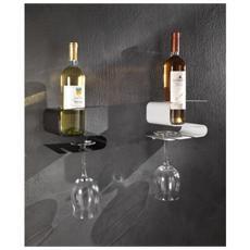 Mensola Porta Bottiglie E Bicchieri Osteria