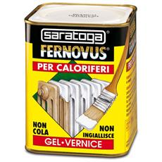 Vernice Gel Antiruggine Fernovus 750ml, Bianco Ghiaccio Satinato Caloriferi, Saratoga