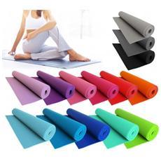 Tappeto Comfort Per Yoga Fitness E Allenamenti Sport 173x61 Cm Spessore 3 Mm - Grigio