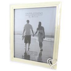 cornici portafoto 'romance' avorio (20x25 cm) - [ m9637]