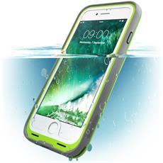 Custodia Impermeabile Iphone 7, [ Waterproof ] Cover Antiurto + Protezione Dello Schermo Per Apple Iphone 7 - (Verde / Grigio)