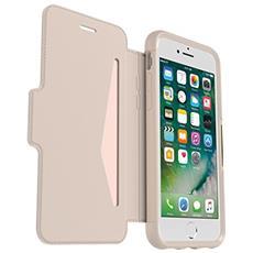 Flip Cover Custodia in Pelle per iPhone 8 / 7 Colore Beige