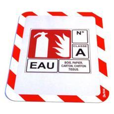 confezione da 2 pezzi - pannello a4 magnetico per segnalazioni cornice bianco / rosso tarifold