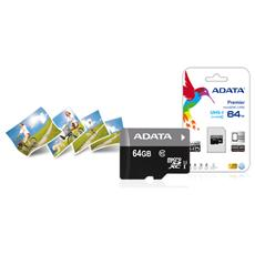 SDXC ADATA MICRO 64GB (2in1) UHS-I CL10 AUSDX64GUICL10-RA1