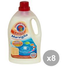 Set 8 Lavatrice Liquido 23 Mis. Marsiglia Detergent