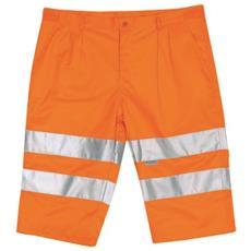 Pantaloni Corto Ad Alta Visibilità In Cotone E Poliestere Colore Arancio Taglia Xl