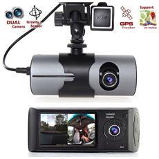 Telecamera Dvr Auto R300 Tft Cruscotto Registratore 2 Lenti Posteriore E Anteriore