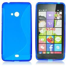Custodia Back Lux per Microsoft Lumia 540 Azzurro S-Line