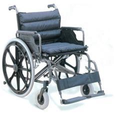 Carrozzina Extra Large - Seduta 55 Cm - Tessuto Nero