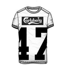 T-shirt Uomo Con Numero S Bianco