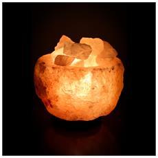 Lampada Di Sale Himalayano A Forma Di Ciotola Liscia Da 3 Kg