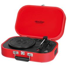 Giradischi Portatile Sally Mp3 Usb Bluetooth Trevi Tt 1020 Bt Rosso