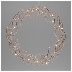 Ghirlanda a Micro LED da 30 cm Colore Bianco e Oro