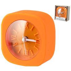 Sveglia Gommata Quadrata Arancio Decorazioni E Arredo Casa