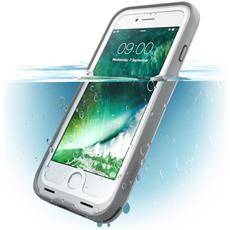 Custodia Impermeabile Iphone 7, [ Waterproof ] Cover Antiurto + Protezione Dello Schermo Per Apple Iphone 7 - (Bianco / Grigio)