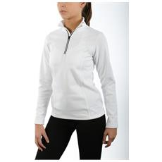 Maglia Donna Micropile Soft-zip Bianco L