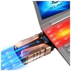 Cool + Sistema Di Raffreddamento Laptop In Metallo - Il Più Potente - Air Vacuum Usb Per Raffreddamento Immediato - Cooling Pad Contro Il Surriscaldamento