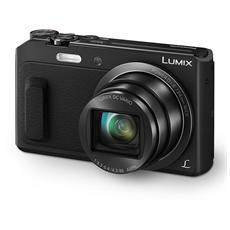 Lumix DMC-TZ57 Nero Sensore MOS 16Mpx Zoom Ottico 20x Display 3' Filmati Full HD Stabilizzato Wi-Fi