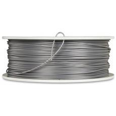 3D Printer Filament PLA 1,75 mm 1 kg argent / metal grigio