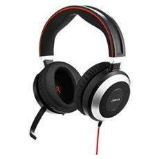 EVOLVE 80 Stereo Stereofonico Padiglione auricolare Nero, Argento cuffia e auricolare
