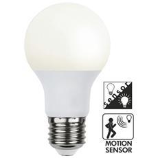 I-LED-E27-60WMS - Lampada LED E27 con Sensore di Movimento e Crepuscolare 11W Classe A