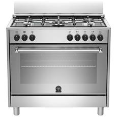 Cucina Elettrica AMN905MFESXE Serie Americana 5 Fuochi a Gas Forno Elettrico Dimensioni 90 x 60 cm Colore Inox